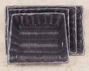 Rect. Synthetic Trays Black