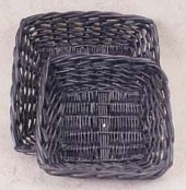 Square Black Willow Tray