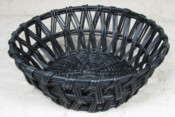 Round Black Willow Open Weave