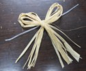 Raffia Bow on Twist Tie