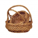 Round Buff Willow W/Handle