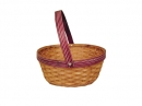Round Honey Bamboo W/Wine Drop Handle