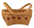Wood Slat Apple Basket