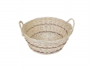 Round Willow Bowl W/Side Handles