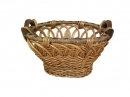 Oval Willow W/Deco Edge Seagrass Trim
