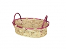 Oval Willow W/Wine Trim