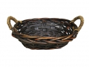 Oval Willow W/ Rope Accent Handles