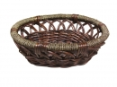 Oval Willow W/Woven Rim