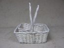 Rect White Washed Basket