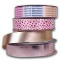 Metallic Embossed Poly Satin Ribbon